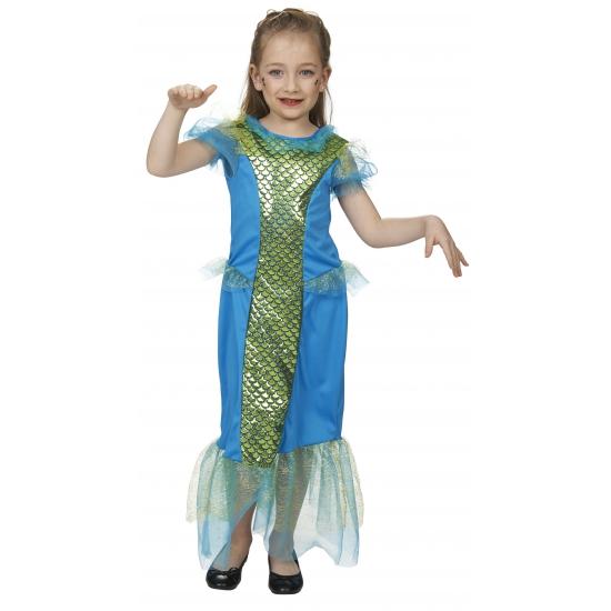 Blauwe zeemeermin kostuums voor meisjes