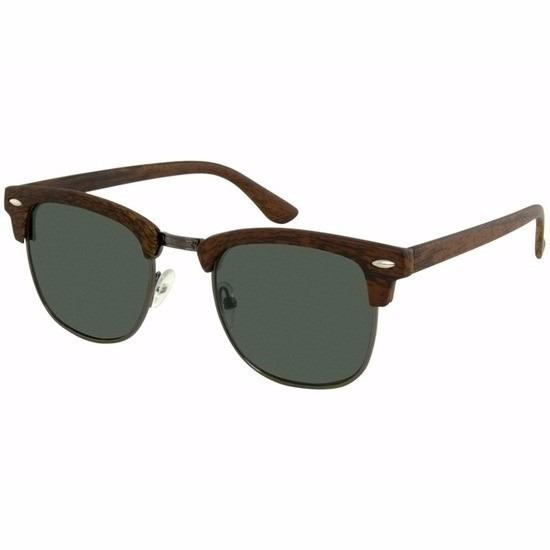Bruine houtlook dames zonnebril model 040