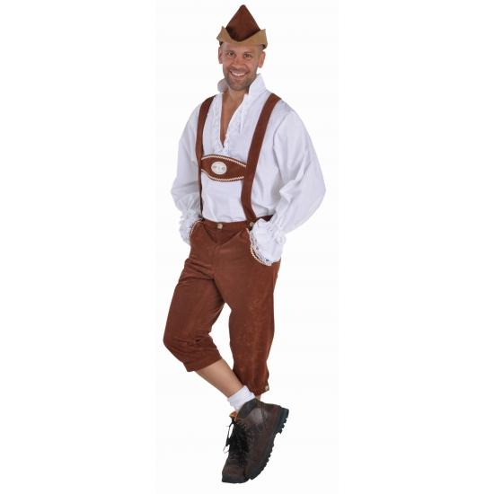 Bruine Tiroler broek voor heren