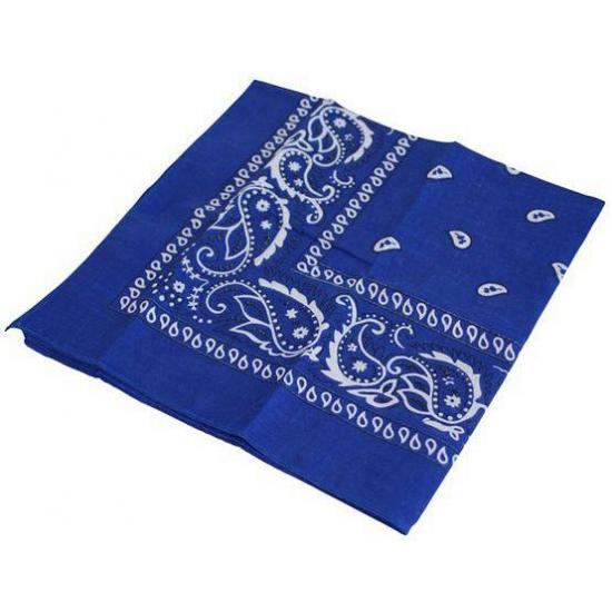 Cowboy blauwe zakdoeken