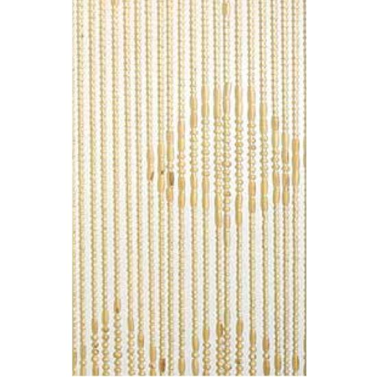 Deurgordijn houten kralen naturel 220 cm