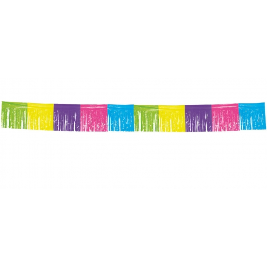 Gekleurde franje slinger 10 meter (bron: Carnavalskostuumwinkel)