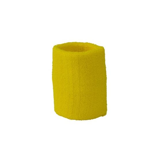 Gele pols zweetbandjes