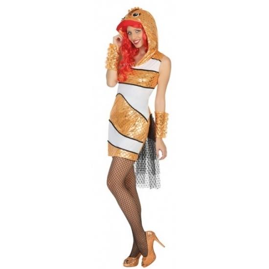 Goudvis kostuum voor dames