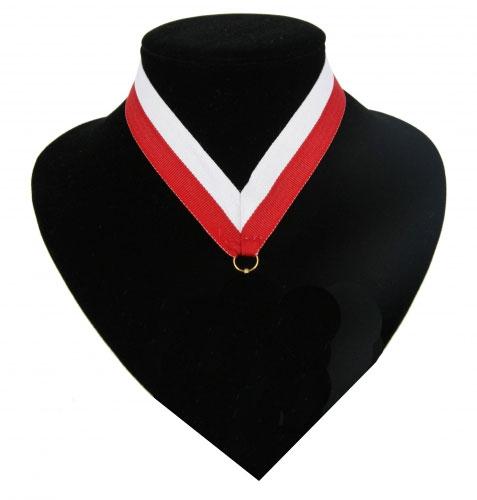 Halslinten rood en wit voor medailles