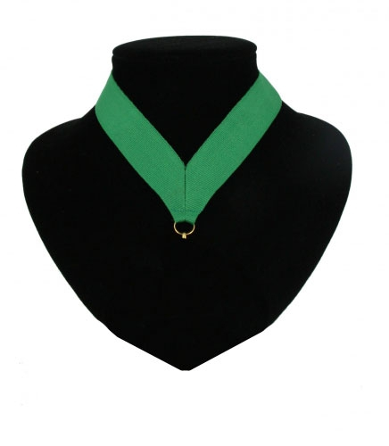 Halslintjes groen voor medailles