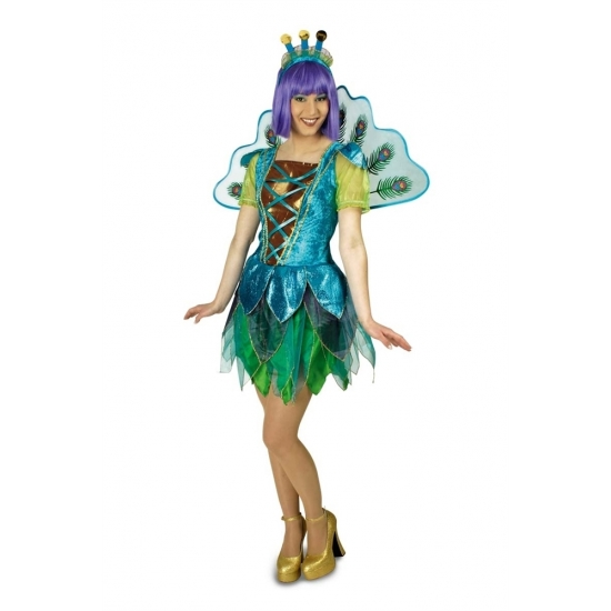 Katy Perry look-a-like pauwen kostuum