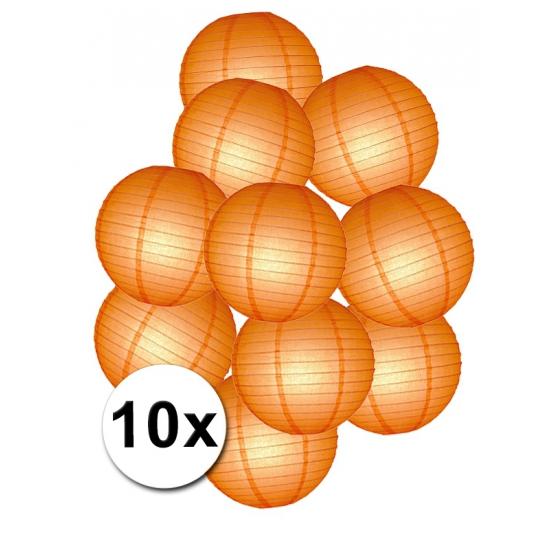 Lampionnen setje oranje