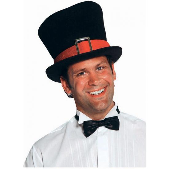 Luxe zwarte hoge hoed voor volwassenen