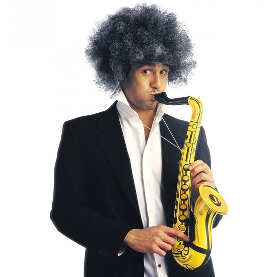 Opblaasbare gekleurde saxofoon 55 cm