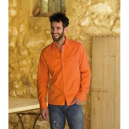 Oranje overhemd voor heren