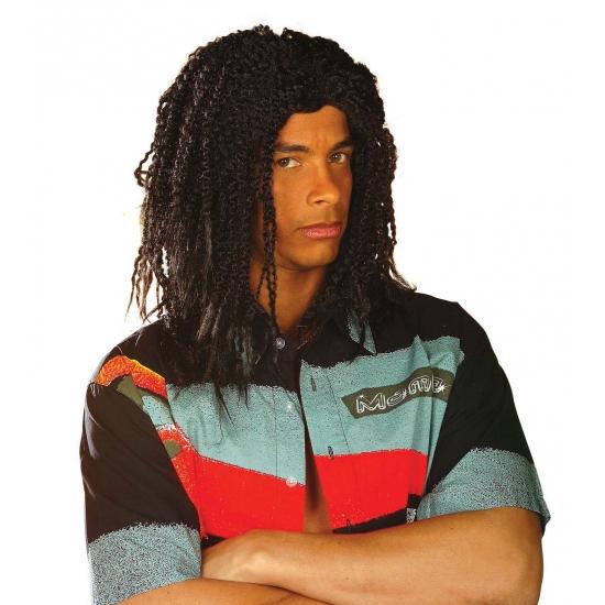 Rasta reggaepruik zwart