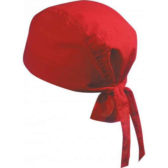 Rode bandana voor dames en heren uni 1