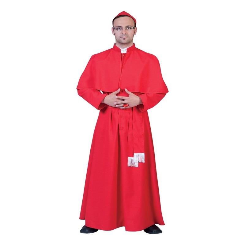 Rode soutane voor de kardinaal