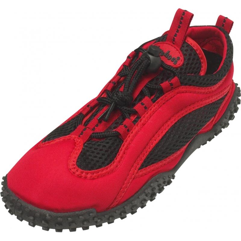 Rood met zwarte waterschoenen voor volwassenen