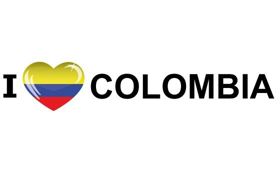 Souvenir sticker I Love Colombia