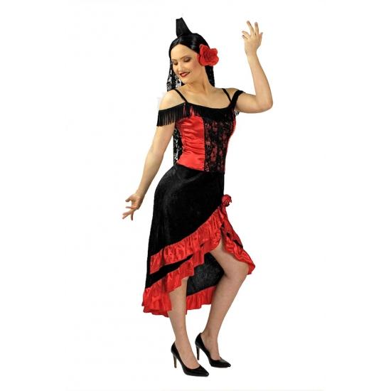 Spaans jurkje voor vrouwen met sluier
