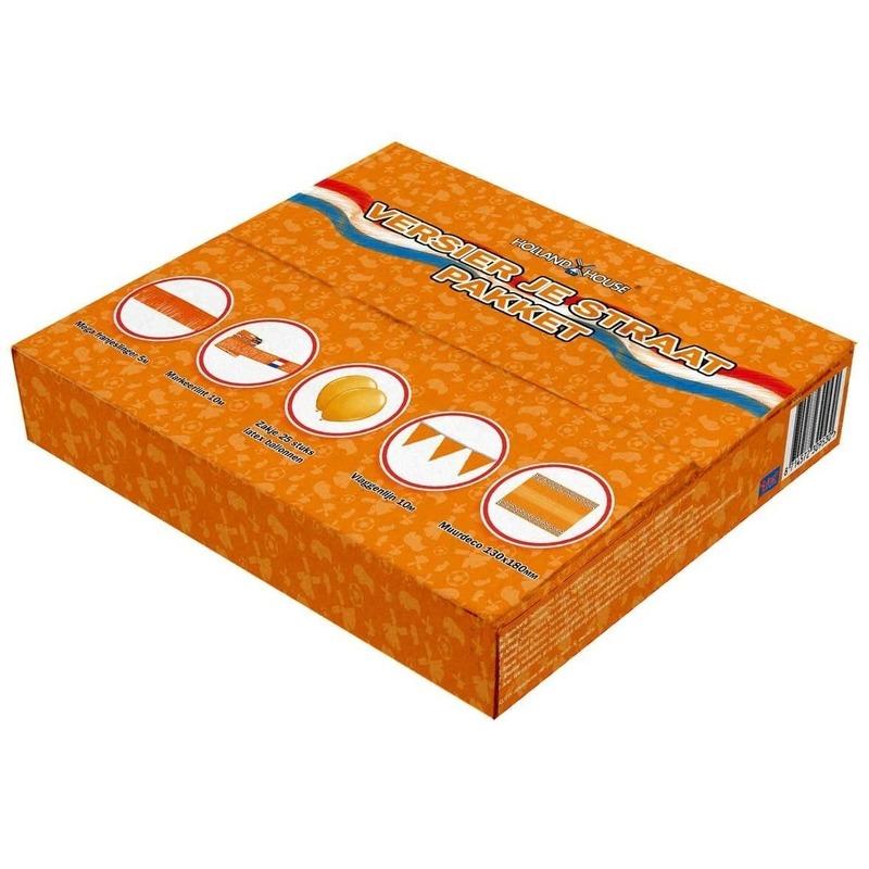 Straat versiering pakket oranje