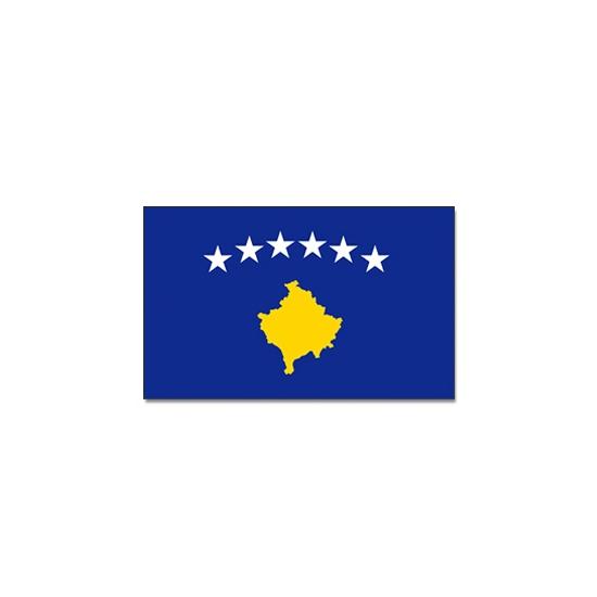 Vlag Kosovo 90 x 150 cm (bron: Carnavalskostuumwinkel)