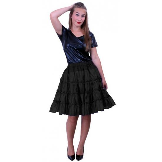 Zwarte caraval petticoats 5-laags voor dames