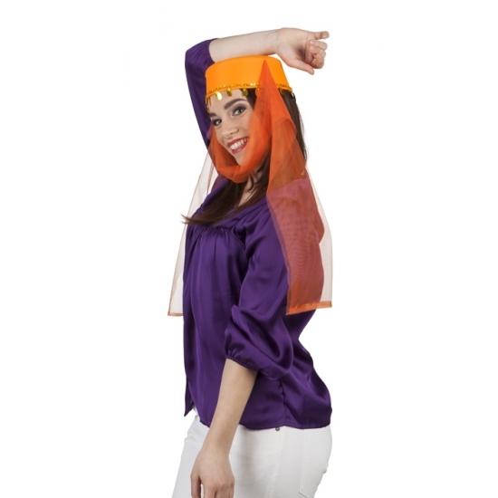 Feest hoeden 1001 nachten dameshoed oranje