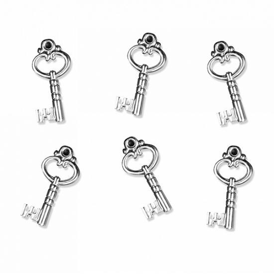 25 decoratie sleuteltjes 2,5 cm