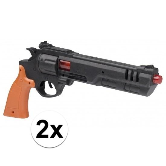 2x stuks speelgoed Dirty Harry politie pistolen 36 cm