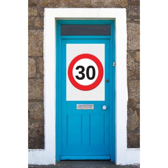 30-jaar-verkeersbord-mega-deurposter