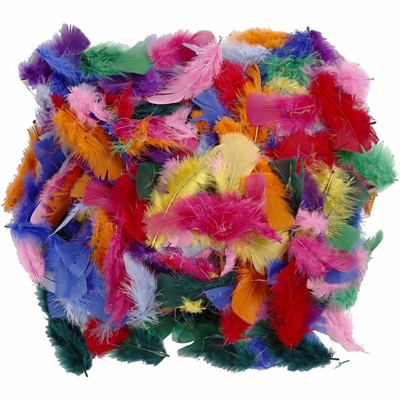 50 gram gekleurde decoratie veren