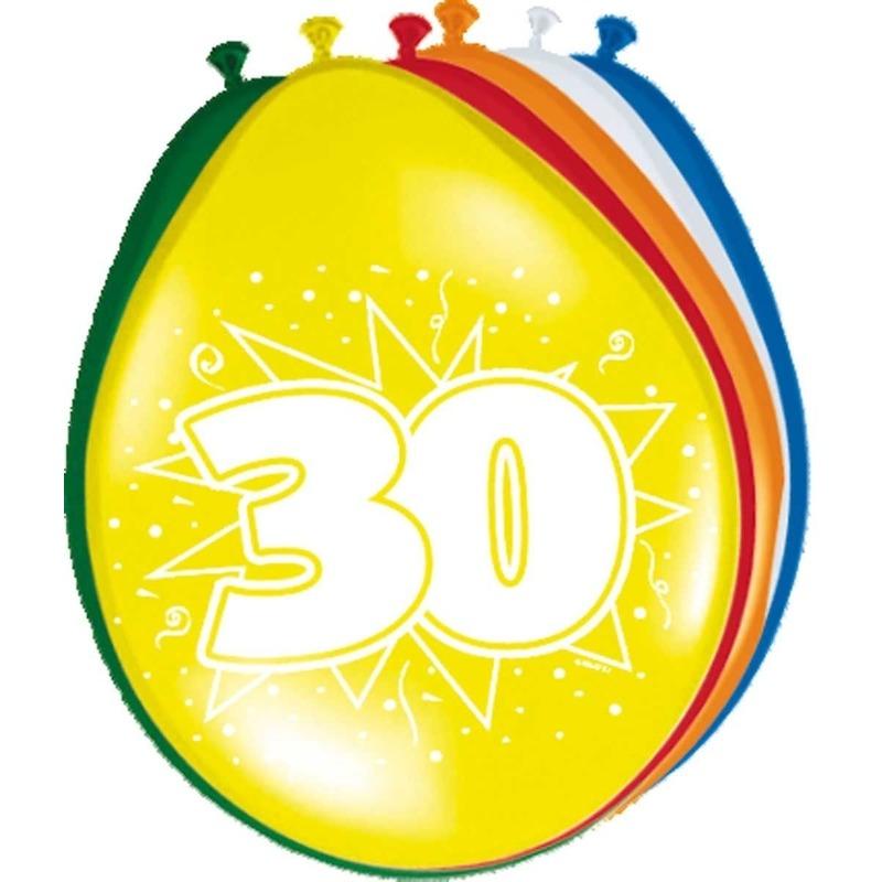 8x-stuks-ballonnen-versiering-30-jaar
