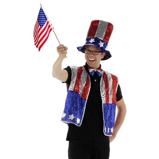 Landen versiering en vlaggen Geen Amerika verkleedset 3 delig