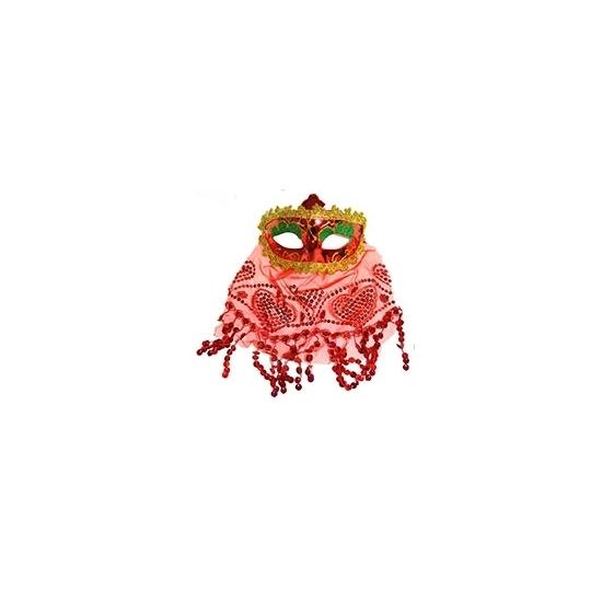 Arabisch oogmasker rood Carnavalskostuum winkel Feest Maskers