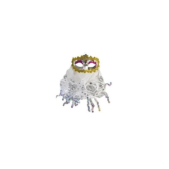 Feest Maskers Carnavalskostuum winkel Arabisch oogmasker wit