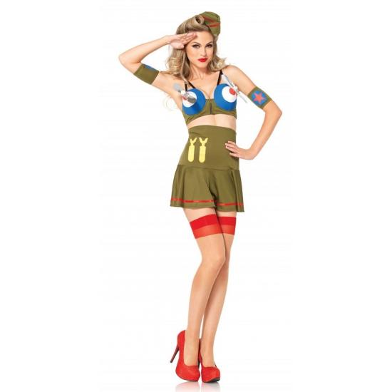 Beroepen kostuums Army piloot jurkje voor dames