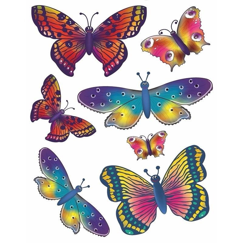 Autoraamstickers vlinders