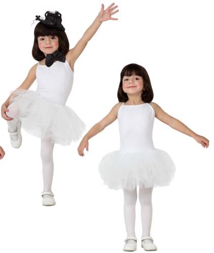 Ballet jurkje met tutu wit