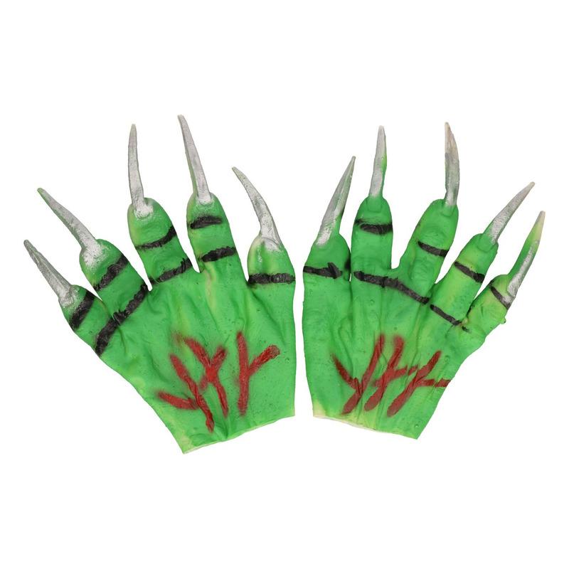 Beesten handen groen