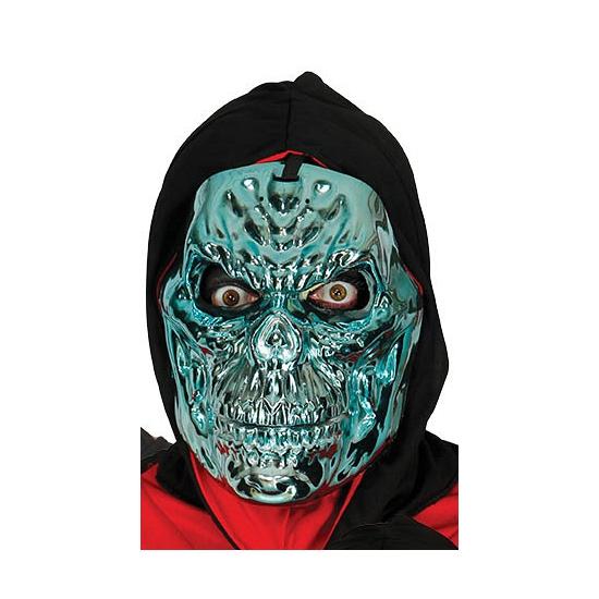 Blauw Metallic Skelet Masker