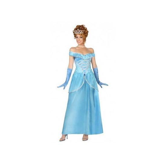 Blauwe Carnavalsjurk prinses
