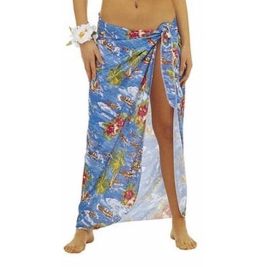 Landen kostuums Carnavalskostuum winkel Blauwe Hawaii verkleed sarong rok voor dames