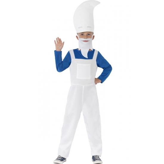 Superhelden en Cartoon kostuums Blauwe kabouter kostuum voor kinderen