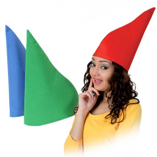 Feest hoeden Blauwe kabouterhoeden van vilt