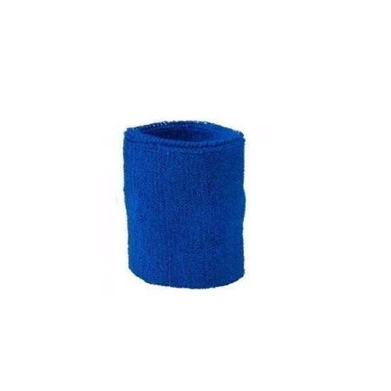 Blauwe pols zweetbanden