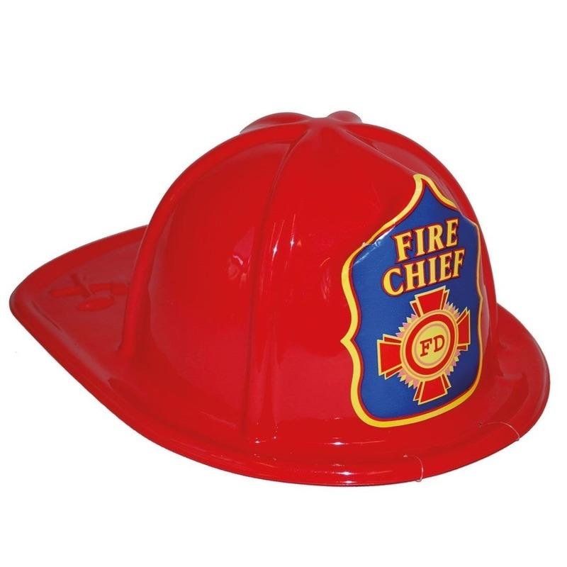 Brandweerhelm rood verkleed accessoire voor kinderen