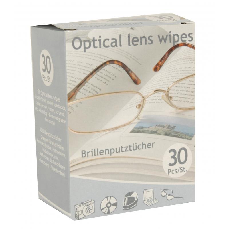 Brillen poetsdoekjes 30 stuks