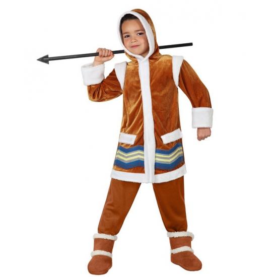 Bruin eskimo kostuum voor kids