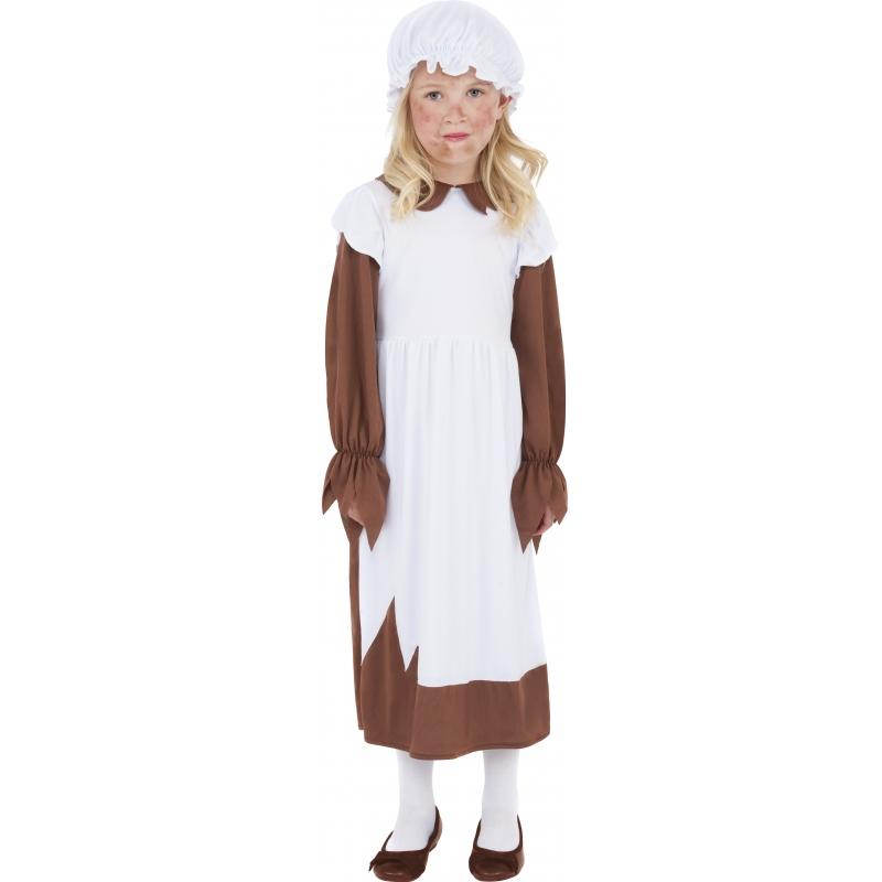 Geschiedenis kostuums Bruin straatkind jurkje voor meisjes