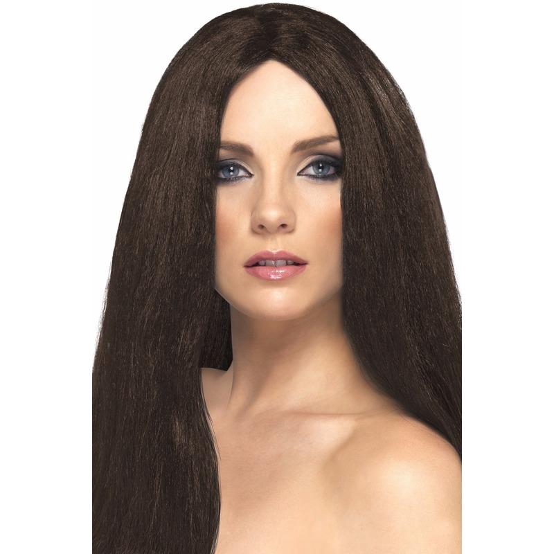 bruine-dames-pruik-met-stijl-haar