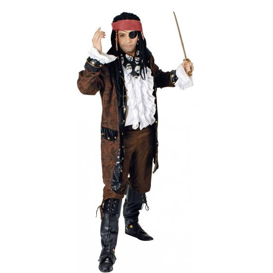 Bruine piraten jas voor heren