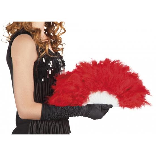 Verkleedaccessoires Carnavalskostuum winkel Burlesque waaier rood